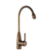 Cheap Radian Side Handle Rotatable Antique Brass Kitchen Faucet