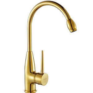 Discount Polished Brass Gold Vintage Rotatable Kitchen Sink Faucet