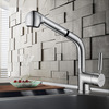 High End Copper Pullout Spray Rotatable Kitchen Sink Faucet