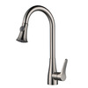 High End Brushed Nickel Pullout Rotatable Kitchen Faucet