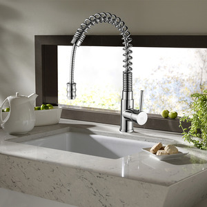 Modern Spring Pullout Spray Commercial Kitchen Faucets
