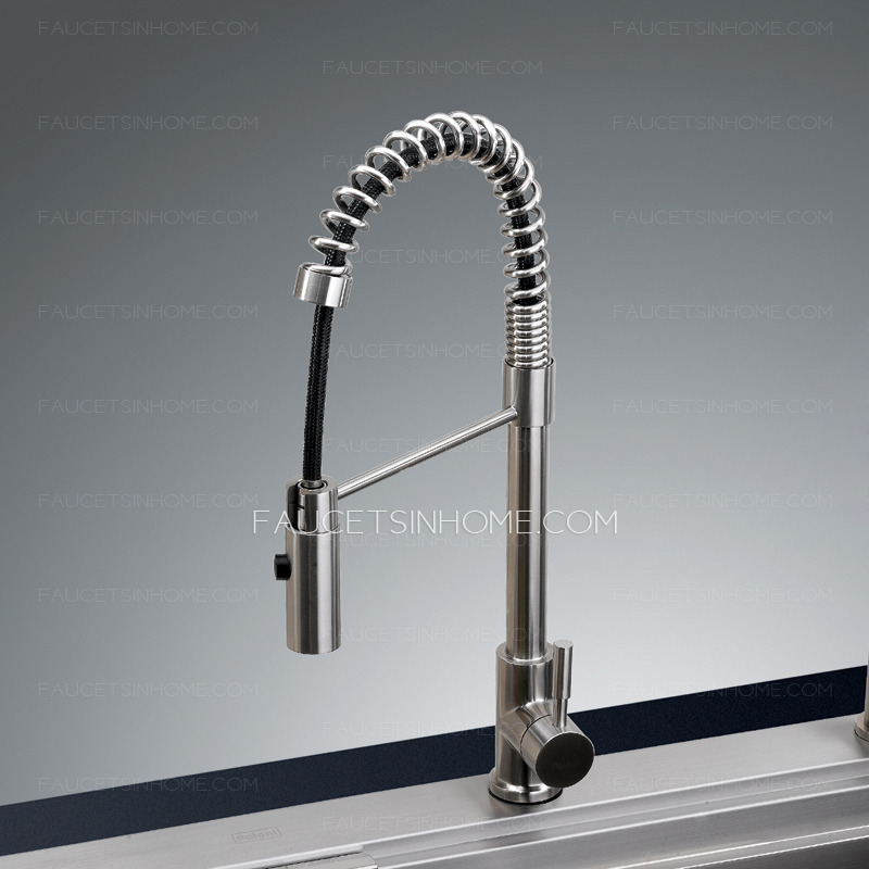 Environmental Lead Free Pullout Stainless Steel Kitchen Faucets