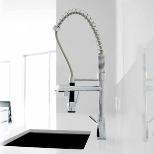 Top Pullout Spring Pipe Kitchen Faucet With Sprayer