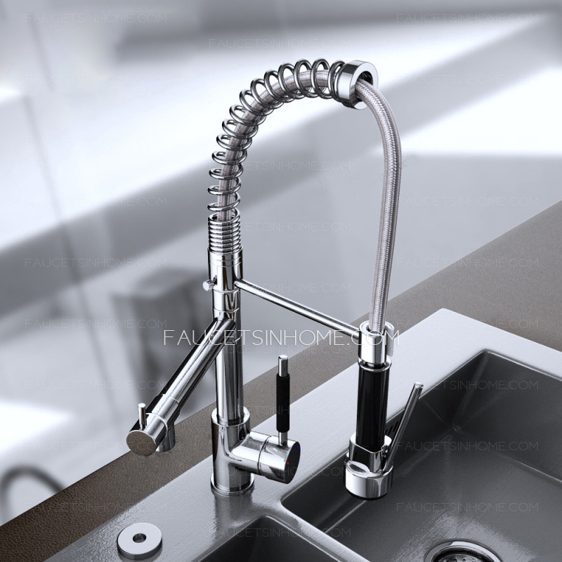 Designed Pullout Spring Kitchen Faucet With Spray Gun