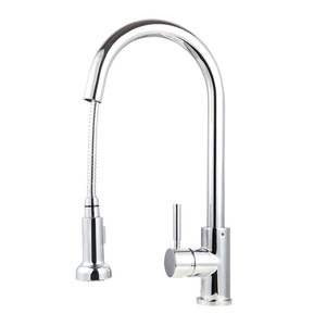 Professional Chrome Copper Rotatable Pullout Kitchen Faucet