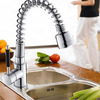 Modern Pullout Copper Stick Handle Kitchen Faucet