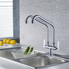 Designed Bridge Kitchen Faucet Of Two Pipe Cold Only
