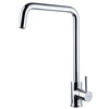 Simple Designed Brass Rotatable Single Handle Kitchen Sink Faucet