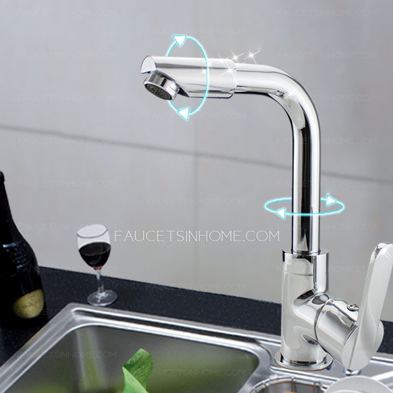 cheap full rotatable one hole kitchen sink faucet