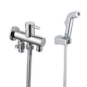 Modern Brass Spray Bidet Faucet Of Cold And Hot Water