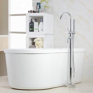 Vintage Brass Floor Mounted Bathtub Shower Faucet