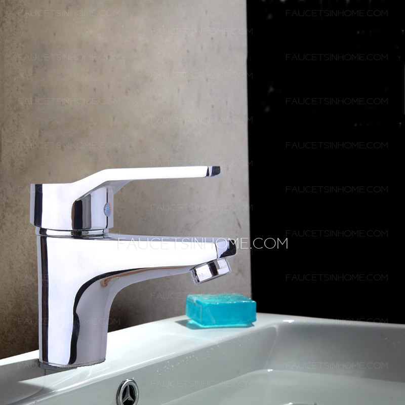 ... Sink Faucets > Cheap Brass One Hole Deck Mount Bathroom Sink Faucet