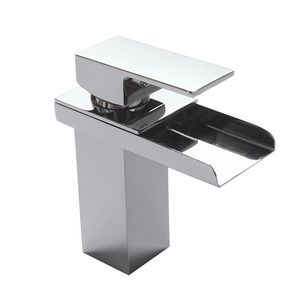 Fashion Waterfall Centerset Suqare Shaped Bathroom Sink Faucet