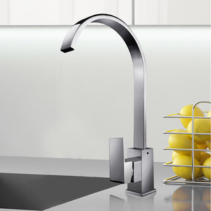 High End Waterfall Single Handle Gooseneck Kitchen Faucets