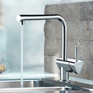 Modern Rotatable Copper Seven Shaped Kitchen Sink Faucet