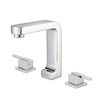 Contemporary Three Split Hole Square Shaped Pullout Bathroom Faucet