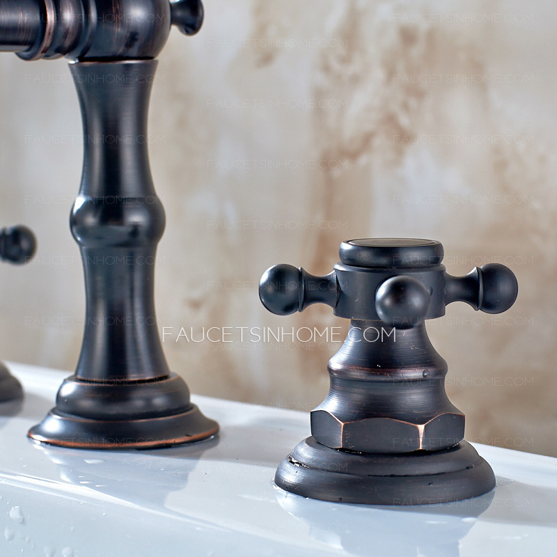 Antique Oil Rubbed Bronze Black Bathroom Sink Faucet