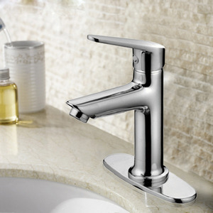 Simple Three Hole Center Set Bathroom Sink Faucet