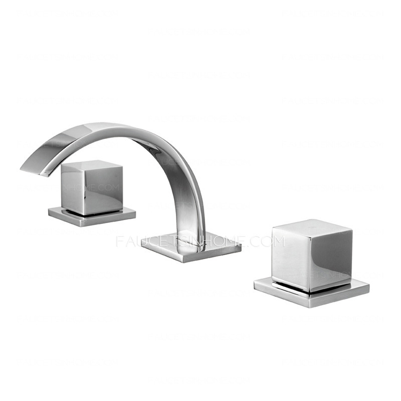 Cool Split Three Hole Two Handle Bathroom Sink Faucet