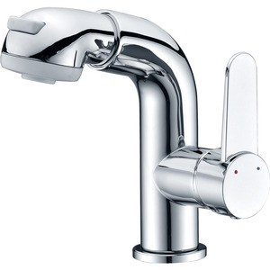 Simple Desing Pullout Side Handle Bathroom Sink Faucet