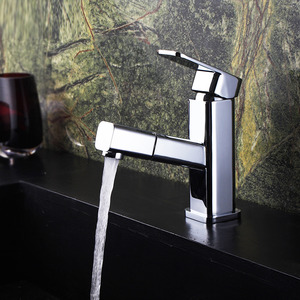 Contemporary Pullout Sink Faucet Bathroom Of Single Handle