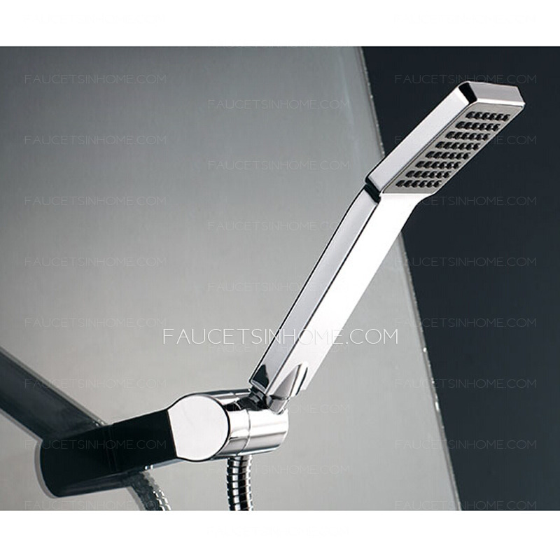 Modern Concealed Wall Mount Hanging Pipe Shower Faucet