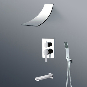 Good Waterfall Concealed Wall Mount Hand Shower Faucet