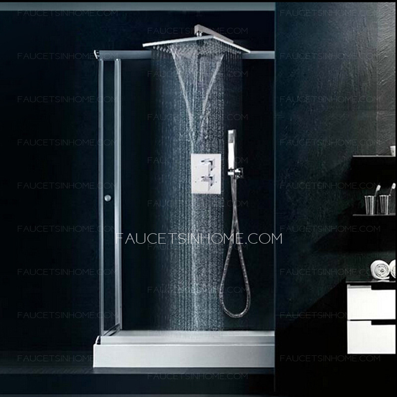 High End Thermostatic Waterfall Concealed Shower Faucet System