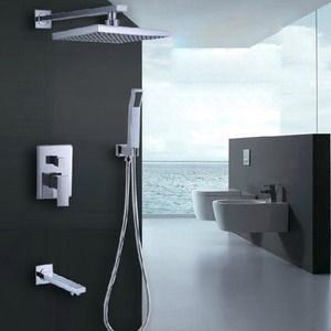 Best Concealed Suqare Shaped Top Shower Faucet System