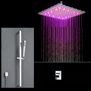 Expensive Concealed Thermostatic LED Shower Faucet System