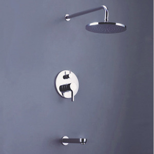 Simple Concealed Wall Mount Top Rain Shower Faucet