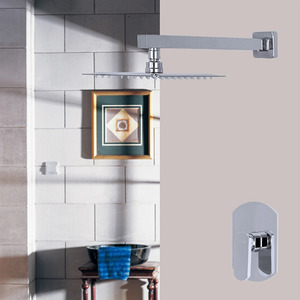 Simple Two Hole Concealed Wall Mount Top Shower Faucet