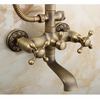 Vintage Copper Top And Hand Bathroom Shower Faucet System