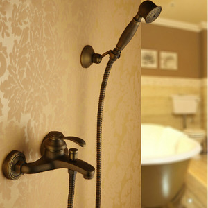 Simple Hand Shower Faucet Brushed Antique Copper