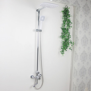 Modern Chrome Copper Bathroom Shower Faucet With Under Faucet