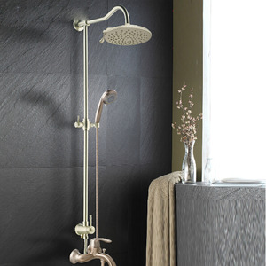 High End Brushed Nickel Bathroom Shower Faucet System