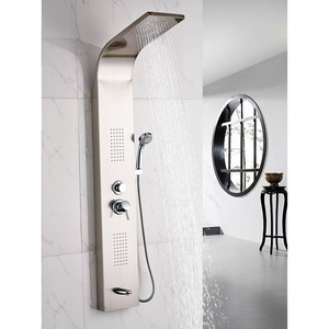 High End Stainless Steel Shower Screen Faucet System