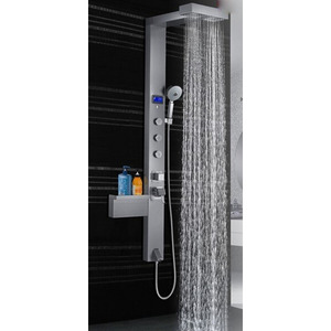 Modern Silver Brushed Bathroom Shower Screen System