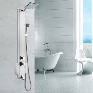 Designed Stainless Steel Brushed Bathroom Shower Screen Faucet
