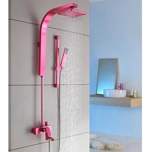 Comfortable Pink Brushed Elevating Shower Screen Faucet System