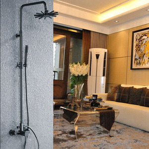 Antique Black Brushed Copper Leading Free Shower Faucet