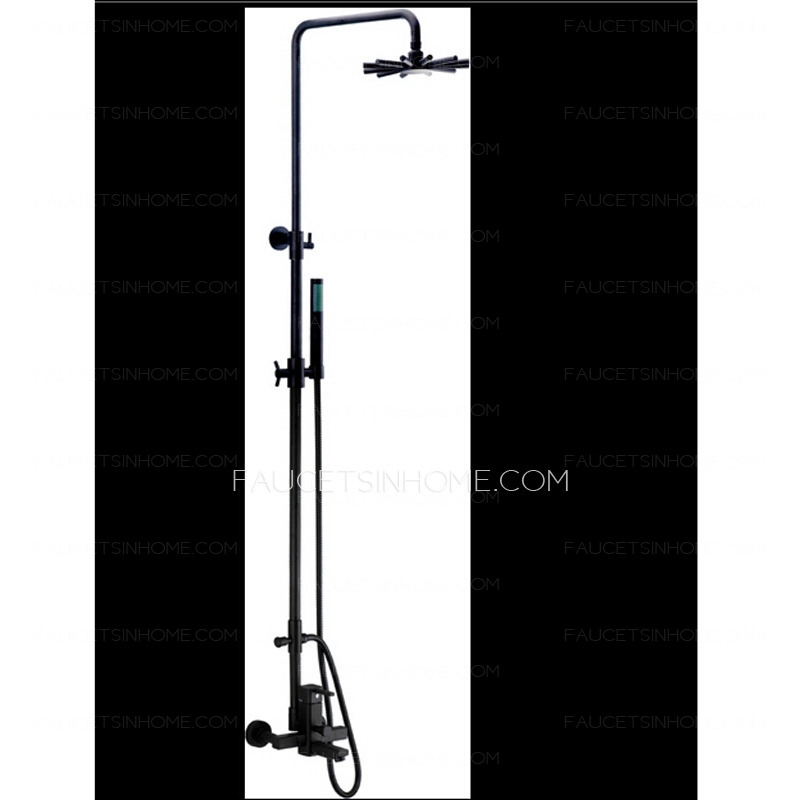 Home > Shower Faucets > Designed Black Brushed Nickel Elevating Shower ...