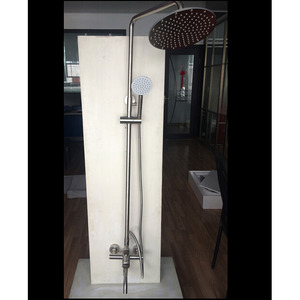 Modern Brushed Stainless Steel Bathroom Shower Faucet System