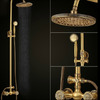 Vintage Gold Copper Shower Faucet Thick Top Shower