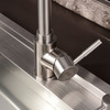 Modern Brushed Seven Shaped Stainless Steel Rotatable Kitchen Faucet