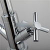 New Arrival Copper Two Cross Handle Kitchen Faucet One Hole