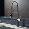 High Quality Copper Pullout Brushed Nickel Kitchen Faucet