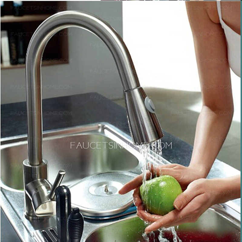 stainless steel single handle pullout kitchen f