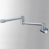 Modern Folding Copper Concealed Wall Mount Kitchen Pot Filler Faucets