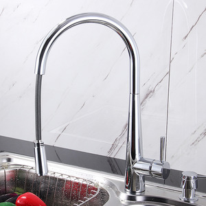 Designed Pullout High Arc Copper Kitchen Faucet On Sale